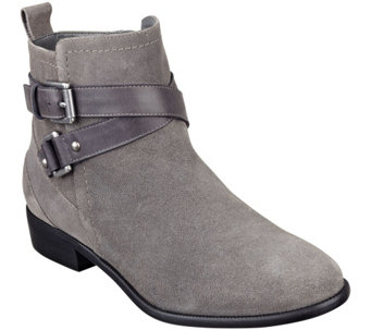 """As Is"" Marc Fisher Suede Ankle Boots - Charlie - A277667"