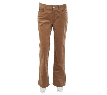 """As Is"" Women with Control Regular Corduroy Boot Cut Pants"