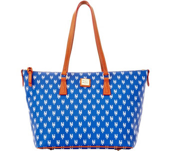Dooney & Bourke MLB Mets Zip Top Shopper - A280067
