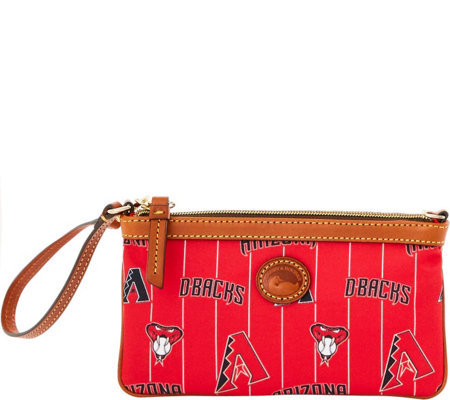 Dooney & Bourke MLB Nylon Diamondbacks Large Slim Wristlet