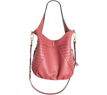 """As Is"" orYANY Pebble Leather Hobo with Shoulder Strap - Isabella - A283367"