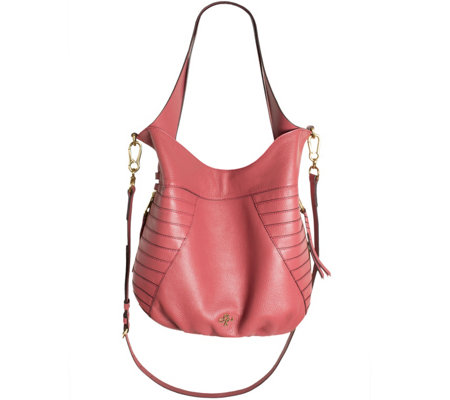 """As Is"" orYANY Pebble Leather Hobo with Shoulder Strap - Isabella"