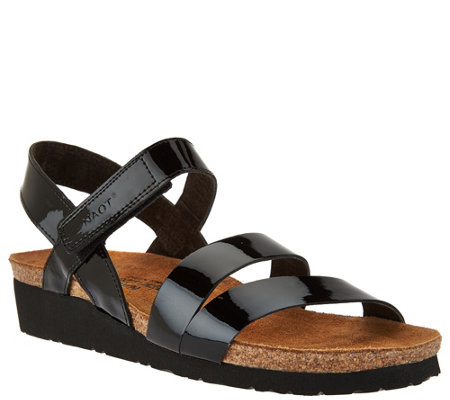 Naot Leather Cross-strap Sandals - Kayla