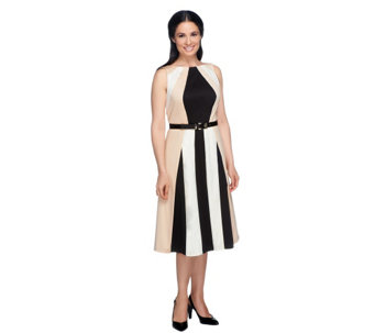 """As Is"" G.I.L.I. Petite Sleeveless Color-Block Dress - A285267"