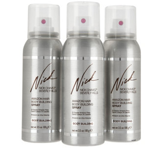 Nick Chavez Amazon Body Building Hairspray 3.5oz Trio Gift Set - A286567