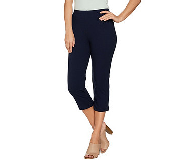 Women with Control Regular Pull-On Tushy Lifter Capri Pants - A288167