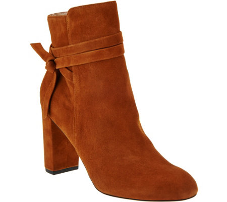 """As Is"" Sole Society Suede Ankle Boots - Flynn"