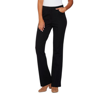 """As Is"" Isaac Mizrahi Live! Petite 24/7 Stretch Boot Cut Pants - A290567"
