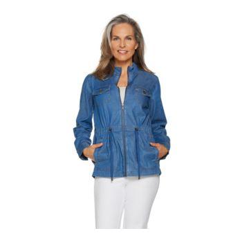 Studio by Denim & Co. Stretch Tencel Zip Front Anorak Jacket