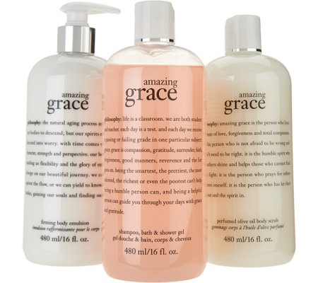 philosophy graceful bath trio of fragranced body care
