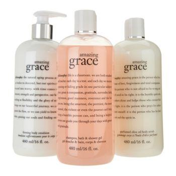 philosophy graceful bath trio of fragranced body care