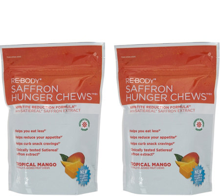 Re-Body Tropical Mango Saffron Hunger Chews 30-day Supply
