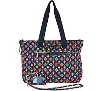 Vera Bradley Lighten Up Expandable Tote with ID Case and Lanyard - A296467