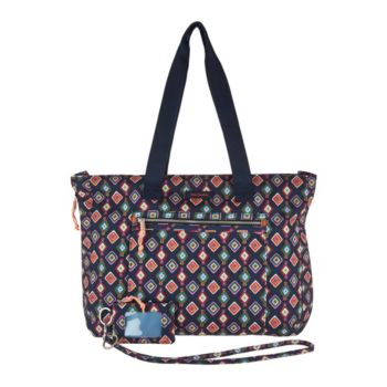 Vera Bradley Lighten Up Expandable Tote with ID Case and Lanyard