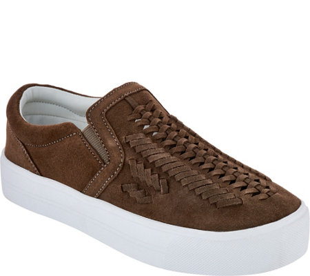 Marc Fisher Woven Suede Slip-On Shoes - Dexie