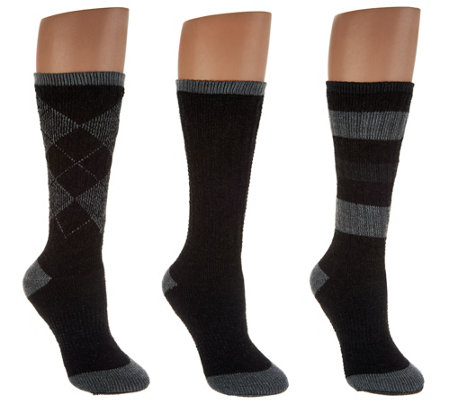 Catawba Set of 3 Merino Wool Blend Socks with Gift Box
