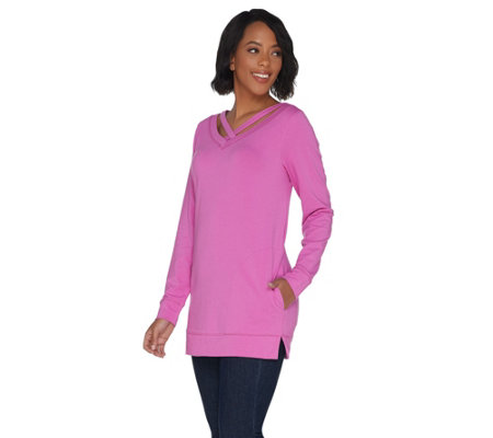 Belle by Kim Gravel Criss Cross Tunic with Pockets