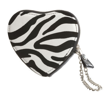 Lee Sands Zebra Print Change Purse