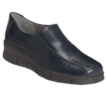 aerosoles ladybird wedge slip on shoes qvc
