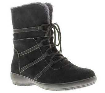 Spring Step Purity Suede Leather Mid-Calf Boots - A330167