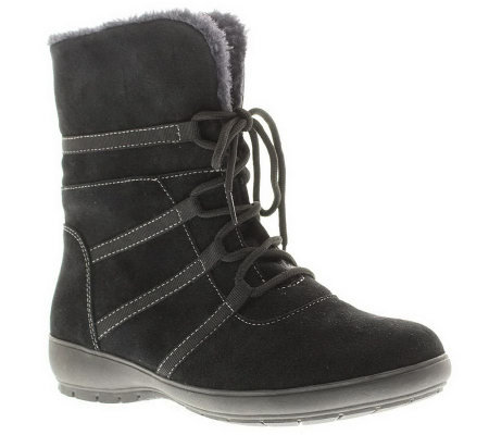 Spring Step Purity Suede Leather Mid-Calf Boots