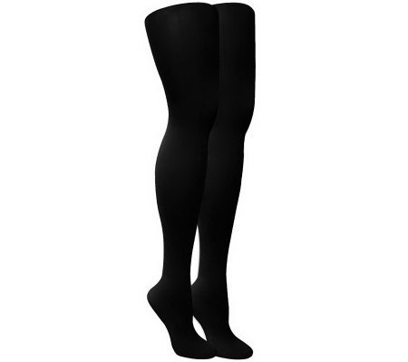MUK LUKS Women's 2-Pair Pack Microfiber Tights