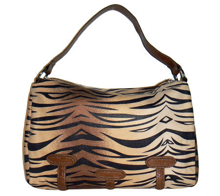 Lee Sands Tiger Print Slouch Bag