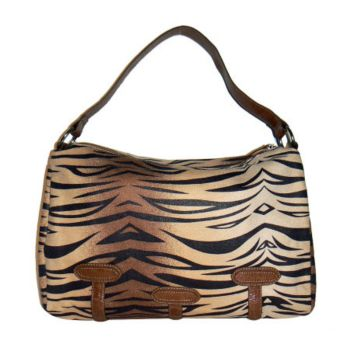 Lee Sands Tiger Print Slouch Bag