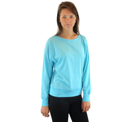 Ryka Knit Long-Sleeved Inspire Bateau Neck Top