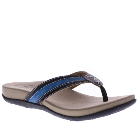 Spring Step L'Artiste Leather Thong Sandals - Turnberry