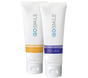GO SMiLE AM/PM Refresh and Relax Luxury Toothpaste Duo - A337267