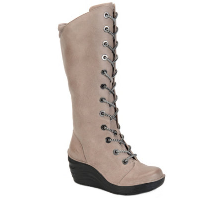 Bionica Tall Leather Wedge Boots - Culture