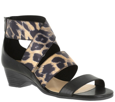 Bella Vita Elastic Multi-strap Wedge Sandals -Paloma II