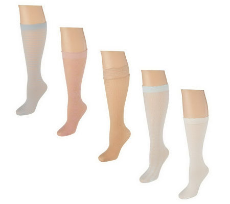 Passione Bellisimo Set of 5 Luxury Knee High Socks