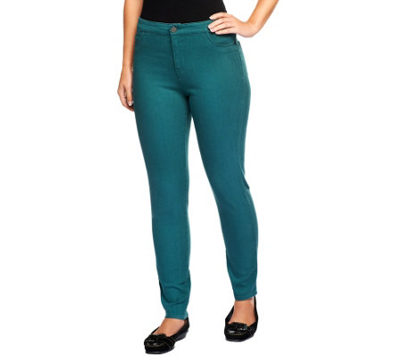 Lisa Rinna Collection Regular Zip Fly Skinny Ankle Jeans