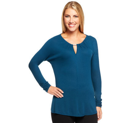 CE by Cristina Ehrlich Knit Top with Keyhole