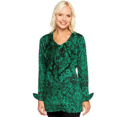 Status by Star Jones Button Front Woven Blouse