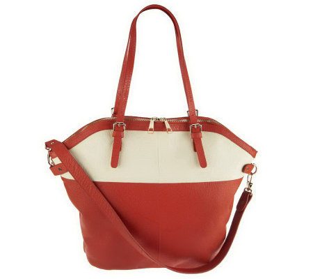 """As Is"" Kelsi Dagger Julie Colorblock Convertible Tote"