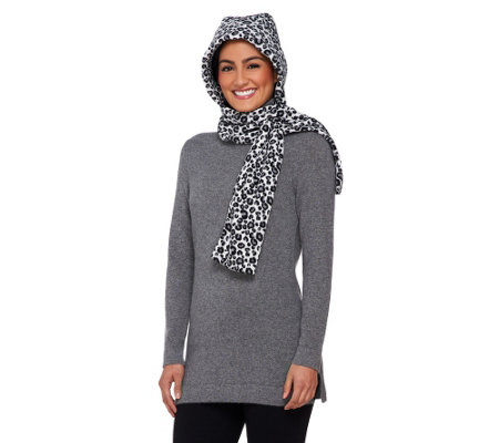 Due North Wind Resistant Hooded Scarf w/ Self-Locking Feature