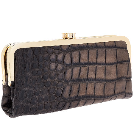 G.I.L.I. Leather Exotic Clutch Wallet