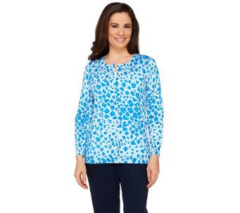 Quacker Factory Lady Leopard Animal Print Sparkle Cardigan - A262868