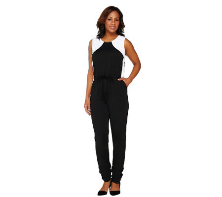 GK George Kotsiopoulos Color Block Woven Jumpsuit