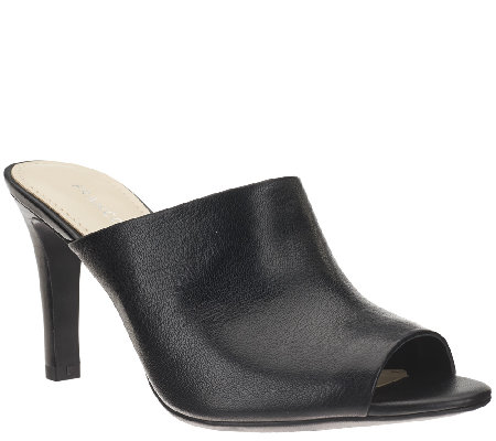 Franco Sarto Leather Heeled Mules - Quala