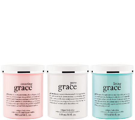 philosophy super-size grace whipped body creme trio