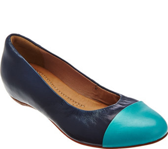Clarks Artisan Leather Cap Toe Slip-on Flats - Alitay Susan - A273568