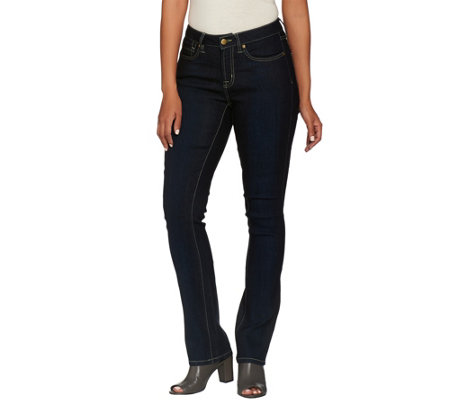 SkinnyJeans2 Petite Slim Boot Cut Five Pocket Jeans
