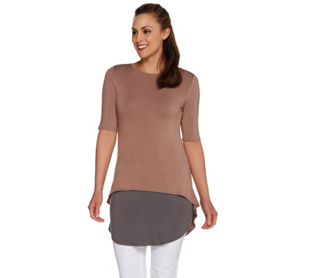 LOGO by Lori Goldstein Petite Knit Top and Tank Twin Set