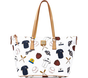 Dooney & Bourke MLB Brewers Zip Top Shopper - A280068