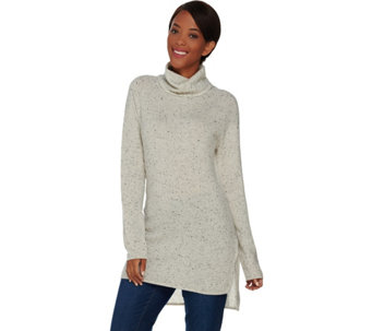 Isaac Mizrahi Live! 2-Ply Cashmere Turtleneck Sweater Tunic - A281468