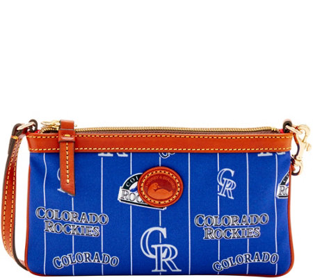 Dooney & Bourke MLB Nylon Rockies Large Slim Wristlet